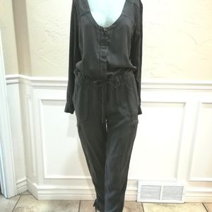 Free people dark gray jumpsuit size 2